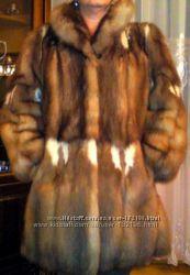 Шикарная натуральная шуба из канадского соболя. Куница. Дороже чем норка.