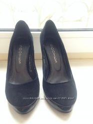 Туфли натуральный замш и кожа 36 р