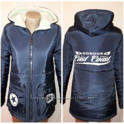 Куртка зима холофайбер подкладка флис