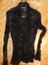 Полупрозрачная жатая блузка Мехх
