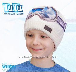 Модная шапка зимняя для активных детей, Tutu
