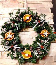 Рождественский Eco-венок, аромат божественный