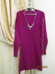 Французское красивое платье с фирменным украшением YUKA 36-38 разм. б. у.
