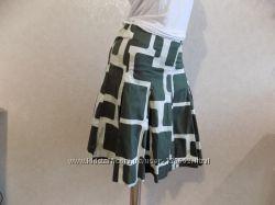 Юбка миди коттоновая с подкладкой фирменная H&M размер 42-44