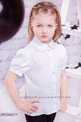 Модные школьные блузки  для девочек р. 122-152см Распродажа