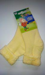 Махровые носки с отворотом, Польша. Размеры 16-18, 19-21