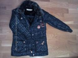 Куртка зимняя GEOX для девочки шапка в подарок