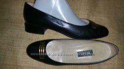 7 E-25 5см кожа туфли  Bally 25. 5 стелька каблук 2 см ширина стельки 7. 5