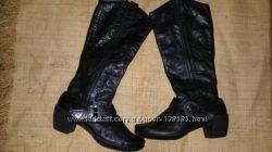 41р-26. 5 кожа новые сапоги Romika зима утеплены теплым флисом каблук 6 см, с