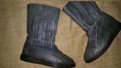 6р-25 см кожа на шерсти Camel boots внутри рейнская шерсть