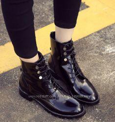 Кожаные ботинки копия  Ralph Lauren
