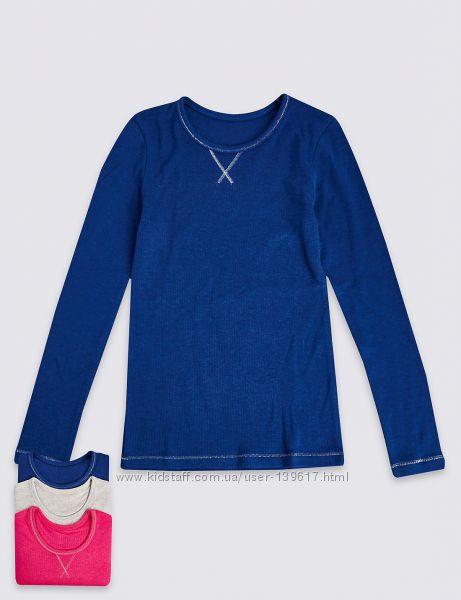 Термореглан от Marks&Spencer для девочек 4-5, 5-6 лет синий и мятный