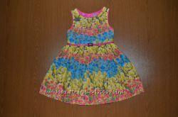 Классное  платье Tu на 4 года без пояса, хлопковое на подкладке