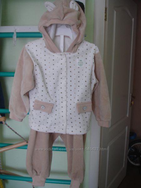 Новий дитячий велюровий костюм