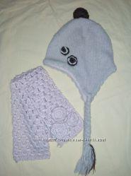 Зимняя шапка и шарфик H&M на девочку 4-6 лет