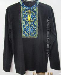 Вышитая футболка с длинным рукавом на мужчину, цвета и размеры разные