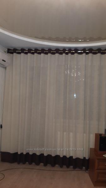 Пошив штор и тюля на люверсах.