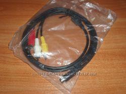 Кабель S-Video 7 pin - 3 RCA stereo 1. 5 m композит тюльпаны