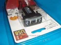 Розетка сокет 2 порта USB автомобильное зарядное для Toyota 12В-24В