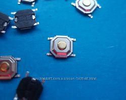 Кнопка тактовая. Микро переключатель 5. 2х5. 2х1. 5мм SMD