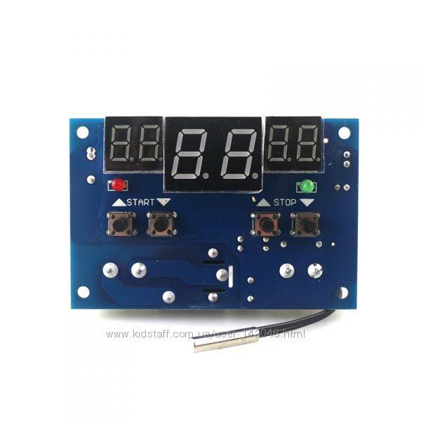 Терморегулятор W1401 термодатчик, термостат активный, 12В, LCD, кабель