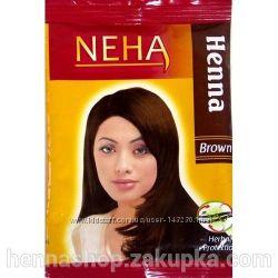Хна Коричневая для волос Neha Henna Brown, 20 г.