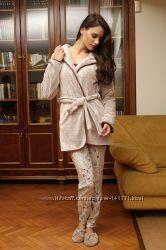 Женскпая пижама и теплый халат HAYS 6037. Пижамы HAYS Зима 2017