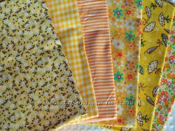 Ткани для творчества, рукоделия  желтая