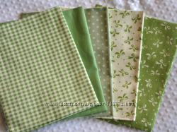 Ткани для творчества, рукоделия  зеленая 2