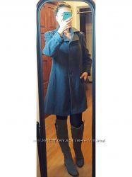 Стильное cерое пальто шерсть, Британской фирмы Bhs