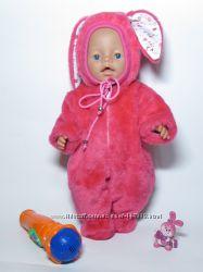 Костюм зайца меховой для Baby Born