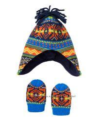Красивенные зимняя шапочка и рукавички от Mathercare