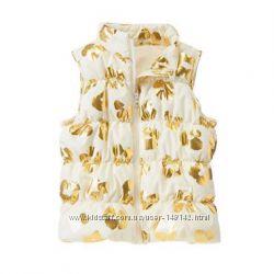 Красивая  тепленькая жилетка  Жилет Crazy 8  Золотая невесомая Крейзи 8