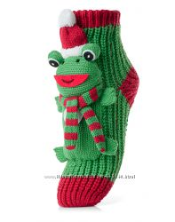 Новогодние носки с фигурками-аппликациями