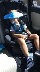 Безопасный сон малыша в машине.  Фиксаторы для головы ребенка в автокресле.