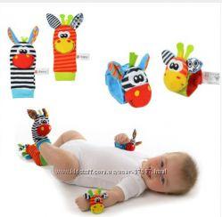 Украшение  игрушка- погремушка  для малышей. Набор из 4 шт.