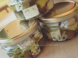 Сыр брынза в оливковом масле
