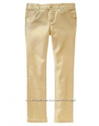 Золотые джинсы-скинни gymboree на девочку 7 лет
