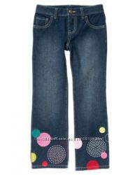 Джинсы с красивой вышивкой CRAZY8 для девочки