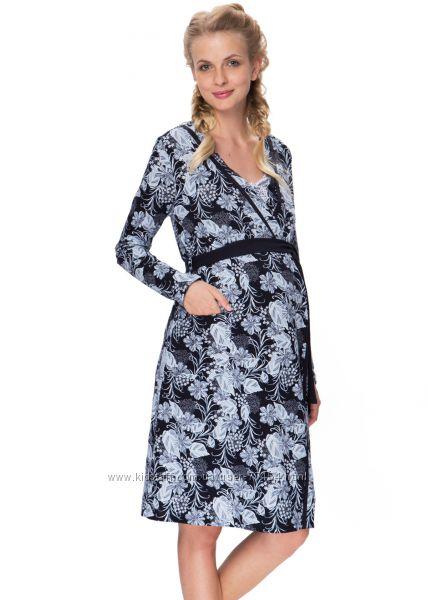 Комплект в роддом беременным и кормящим сорочка  халат