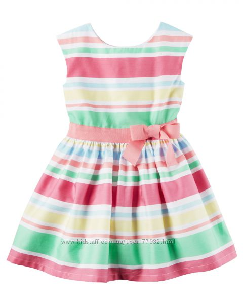 Нарядное  платье бренда Carters, размер 3 года. Цена снижена.