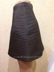 стеганная юбка prada, оригинал, xxs-xs