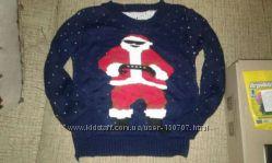 Новогодний свитер для мальчика 5-7 лет