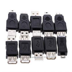 Набор USB-OTG переходников mini, micro, A, B, male, female