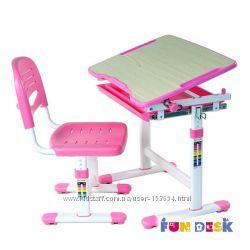 Правильная осанкаКомплект парта и стул-трансформеры FunDesk Piccolino Pink