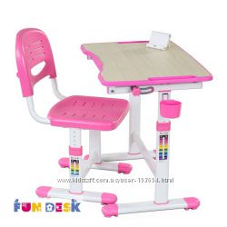 Правильная осанка. Парта и стул-трансформеры FunDesk Piccolino II Pink