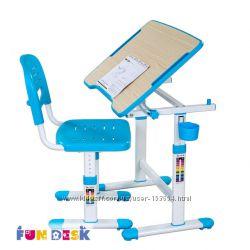Здоровая спина Парта и стул-трансформеры FunDesk Piccolino II Blue