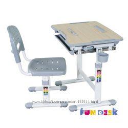 Здоровая спина Парта и стул-трансформеры FunDesk Bambino Grey