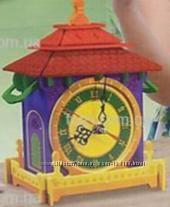 Деревянные конструкторы домики-часы для разукрашивания акриловыми красками