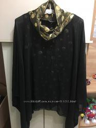 Блузка Нарядная. Черная с золотом